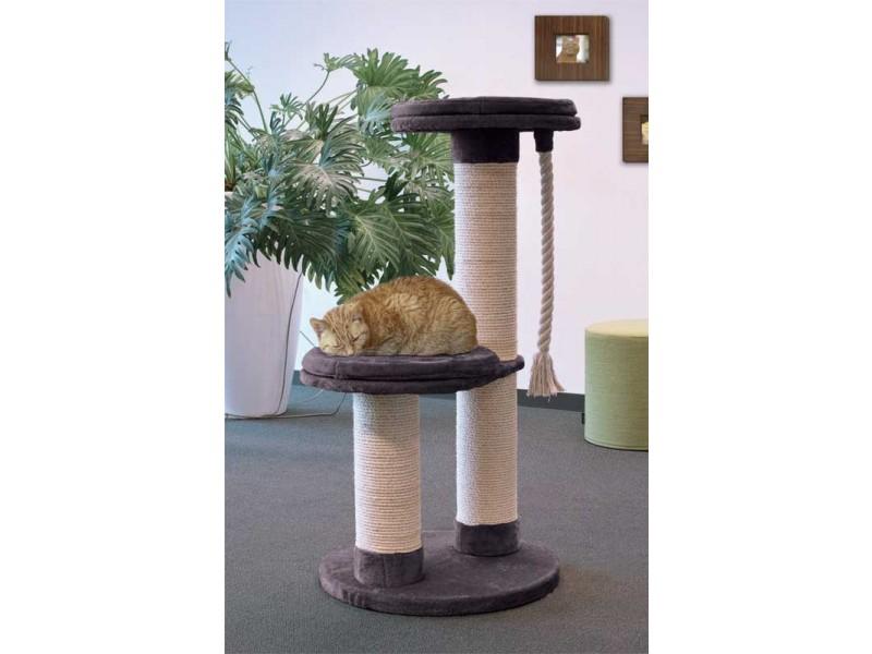 kratzbaum klein grau langria kratzb ume f r katzen kratzbaum kletterbaum stabiler mit dibea kb. Black Bedroom Furniture Sets. Home Design Ideas