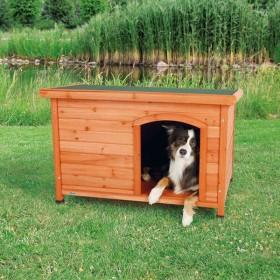 TRIXIE Hundehütte Flachdach braun in S-M, M-L und L