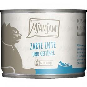 MjaMjaM 200g Dose Katzennassfutter zarte Ente&Geflügel an leckeren Möhrchen (11025)