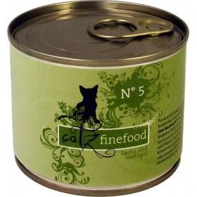 catz finefood No.5 Lachs und Geflügel 200g Dose