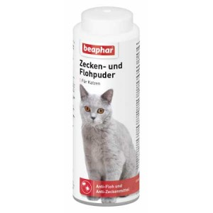 beaphar Zecken und Flohpuder Katze 100g
