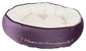 TRIXIE Bett Pet´s Home 50cm lila/creme Hund/Katze (37488)
